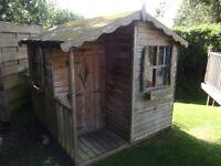 Children's Wooden Outdoor Playhouse