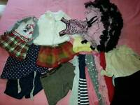 bundle of girls clothing age 1 year to 3 years good used condition also bag of pajamas