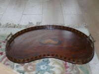 victorian kidney shaped tray