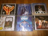 6 x Heavy rock CD;S , Rush, JadasPriest, Black Sabbath ETC