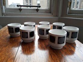 8 x egg cups - mid century design