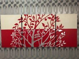 ******Red frame wall art on sale ********