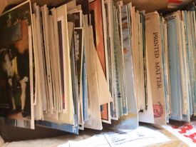 accumulation of vintage ephemera and postcards and more