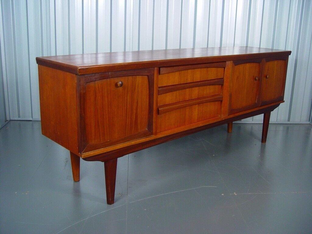 Vintage Wooden Sideboard Mid Century Retro Furniture