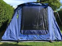 Lichfield exceed Sandwood 4 + 2 tent, with footprint and carpet