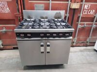 MOORWOOD VULCAN 6 SIX BURNER NAT GAS COOKER COMMERCIAL COOKER perfectly working