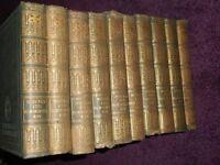 New Harmsworth Self Educator antique books 1-10 & History of the World 1-8