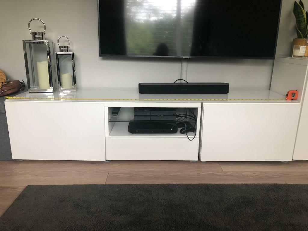 Ikea besta white gloss tv cabinet   in Bournemouth, Dorset ...