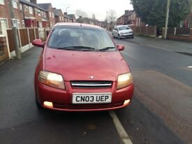 Daewoo KALOS SX 1.4, 2003, Petrol, 5 doors hatchback, 2 previous owners only