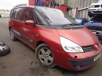 BREAKING RENAULT ESPACE 2.2 DCI 2004 - ALL SPARES AVAILABLE - GEARBOX? DOOR? ALLOYS? LIGHTS? MIRROR?