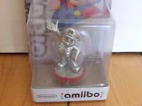 SUPER MARIO SILVER AMIIBO - BRAND NEW SEALED