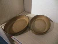 Denby Denbyware Romany 2 oval open roasters/serving dishes