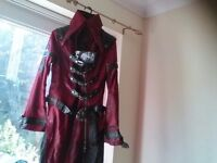 Goth/pirate like jacket for sale, ideal for fancy dress