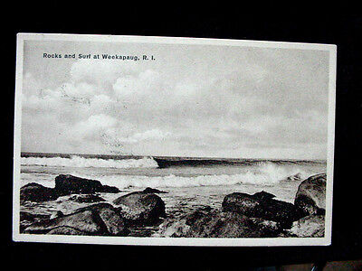 1920's? Rocks & Surf Weekapaug RI post card