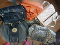 5 hand bags and new Jack wills set