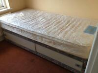 Single 3ft bed with storage & mattress
