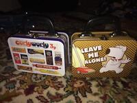 Retro style lunch boxes