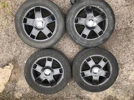 Seat Ibiza 2002-2008 5x100 Black alloys wheels 15' 195 50 15