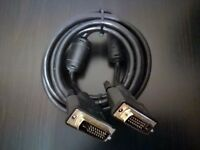 High Quality Gold Plated 3 Metre PC Monitor DVI Cable