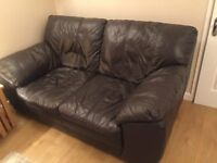 BROWN 2 SEATER SETTEE