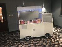Unique VW split screen style candy cart available to hire.