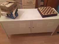 One white cabinet in mint condition for 15 pounds (IKEA PS White £70)