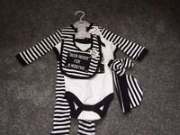 Five piece baby outfit 'been inside for nine months', new, 3-6 months