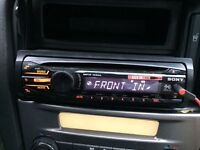 Sony car stereo CD player with AUX to listen to music make or received calls fully working
