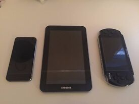 iPhone 5S 16GB - Samsung Galaxy Tab 7.0 Plus - PSP PlayStation 1
