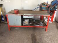 Steel workbench with Engineering vice