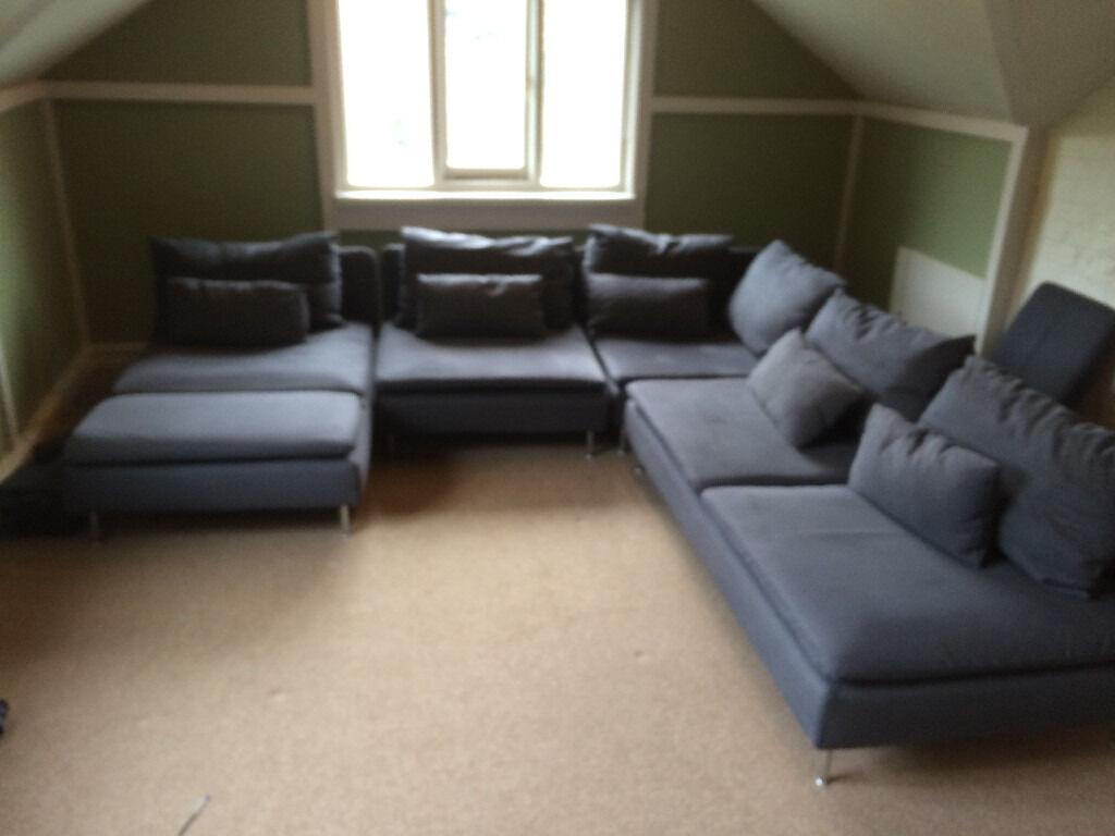 163 400 Ono Ikea S 214 Derhamn 4 Piece Corner Sofa In Samsta