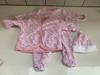 Baby grow, hat and jacket - JoJo Maman Bebe