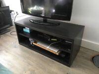 Black wood Ikea media unit