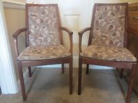 2 Nathan carver dining chairs.