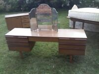LONG NATHAN WOODEN SIDEBOARD DRESSING TABLE (GLASS MIRROR AS SEPARATE)