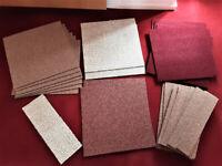 Heuga Carpet Tiles Le Bistro, Joblot, 14 New Unused Plus Batch Cut Pieces