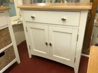 NEXT DAY DELIVERY New oak and ivory Small sideboard £219