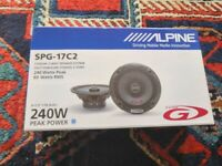 Alpine SPG-17C2 speakers new and boxed