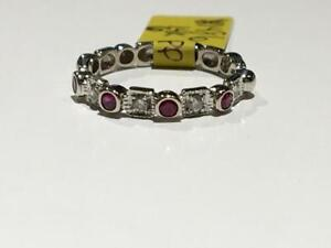 #1486 14K BEAUTIFUL CUSTOM RUBY & DIAMOND BAND *SIZE 6* JUST BACK FROM APPRAISAL AT $1350.00!