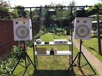 DJ lighting and music system