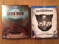 Brand new! Iron Man and transformers blu rays box set . Offers welcome.
