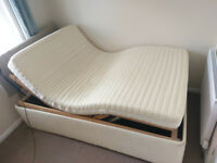 Fully Adjustable electric double bed with remote control