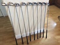 Full set of Calloway golf irons 3 to SW, 9 clubs in total V.G.C. well looked after.