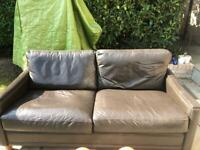 Free 2 x Two Seater John Lewis Leather Sofa's