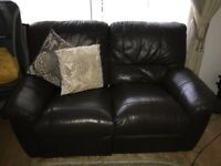 BROWN LEATHER SOFAS- GREAT CONDITION!