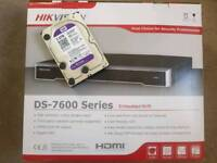 8CH HIKVISION NVR IP POE 8 CHANNEL 8MP CCTV NVR 4K UHD P2P HDMI 2TB WD PURPLE