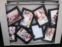 Black multi photo frame x3