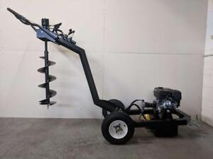 HOC ATEA TRAILERABLE ONE MAN EARTH AUGER POST HOLE DIGGER LITTLE BEAVER + 1 YEAR WARRANTY + FREE SHIPPING