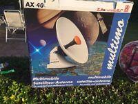 Multimobile satellite antenna still in the box.