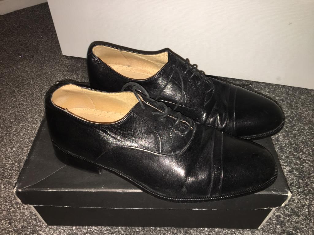 M&S Italian Range Full Leather in Black - Size 10.5